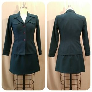 Jade Skirt Suit w/Shell Top